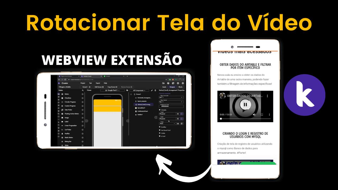 Rotação de Tela Automática Utilizando WEBVIEW com Vídeos